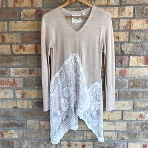 Anthropologie Angel of the North Lace Sweater M